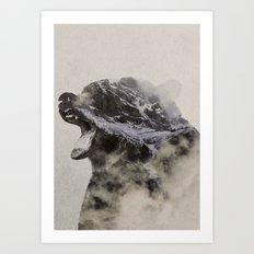 Bear In The Fog Art Print