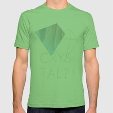 CRYSTAL? Mens Fitted Tee Grass SMALL