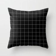 Black Grid /// Www.penci… Throw Pillow