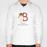B is for Burrowing Owl Hoody