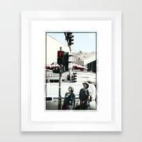 Stop .!   right now  Framed Art Print