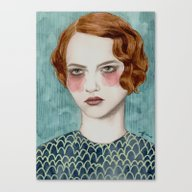Canvas Print featuring Sasha by Sofia Bonati