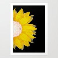 Portrait Of Summer - Yel… Art Print