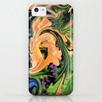iPhone Cases featuring Tangerine Twirl by BeachStudio