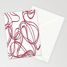 red tyre print Stationery Cards