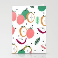 Apple Print. Illustratio… Stationery Cards