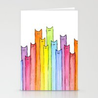 Rainbow of Cats Stationery Cards