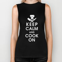 Keep Calm and Cook On Biker Tank