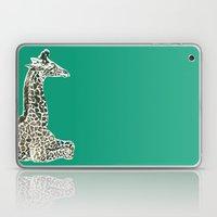 Giraffe in Green Laptop & iPad Skin