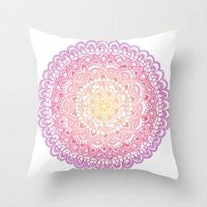 Sunset Mandala  Throw Pillow