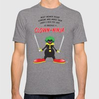 ...So Basically, a Clown-Ninja! Mens Fitted Tee Tri-Grey SMALL