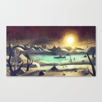 Solitude On Lake Cyanide Canvas Print