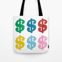 Colourful Money Tote Bag
