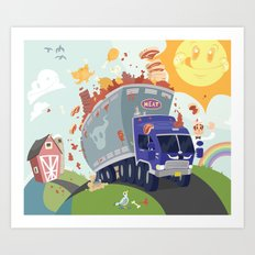 Merry Meat Mobile Art Print
