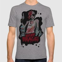Want Brains  Mens Fitted Tee Athletic Grey SMALL