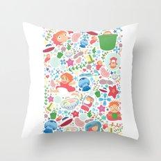 Ponyo Pattern - Studio Ghibli Throw Pillow