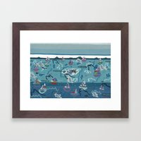 Spinning Yarns At The Wo… Framed Art Print
