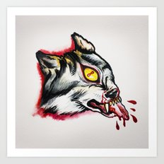 Cyclopes wolf  Art Print