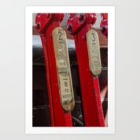 Ralway Signal Levers Art Print
