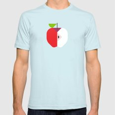 Fruit: Apple Mens Fitted Tee Light Blue SMALL