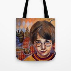 Harry's First Quidditch Match Tote Bag