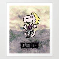 Beaglejuice Art Print
