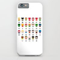 iPhone Cases featuring Superhero Alphabet by PixelPower