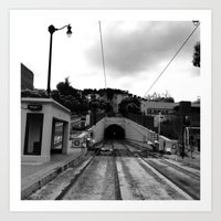 Duboce Tunnel Again Art Print