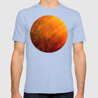 The Burning World Mens Fitted Tee Tri-Blue SMALL