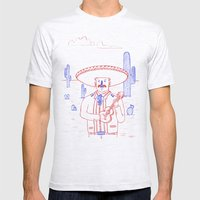Mariachi in the Desert Mens Fitted Tee Ash Grey SMALL