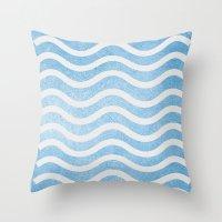 Waves. Throw Pillow