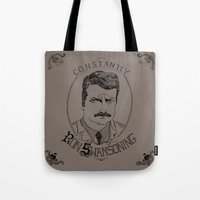 Constantly Ron Swansonin… Tote Bag