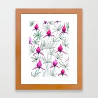 small purple flowers Framed Art Print