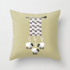 Wool Scarf Throw Pillow