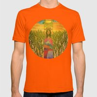 Jesus Mens Fitted Tee Orange SMALL