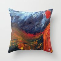 Expressionist Landscape Throw Pillow