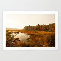Autums Peaceful Tomorrow - New England Fall Landscape Art Print