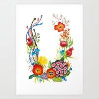 Floral poster Art Print