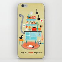 let´s cook together iPhone & iPod Skin