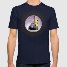 UNDER CONSTRUCTION II-B Mens Fitted Tee Navy SMALL