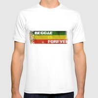 Reggae Is Forever II Mens Fitted Tee White SMALL
