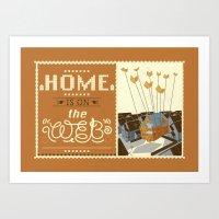 Home on the Web Art Print