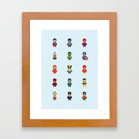 Really Super Marios Framed Art Print
