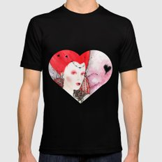The Queen of Hearts Mens Fitted Tee Black SMALL