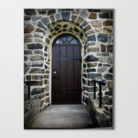 Church Door - Raelingen, Norway Canvas Print