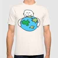 Love the Earth Mens Fitted Tee Natural SMALL