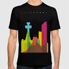 Shapes of Liverpool. Accurate to scale. Mens Fitted Tee SMALL Black