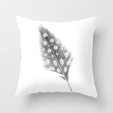 Polka Dotted Feather Throw Pillow