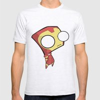 Gir- Iron Man Mens Fitted Tee Ash Grey SMALL