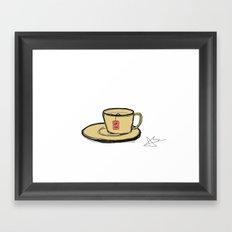 a cup of tea Framed Art Print